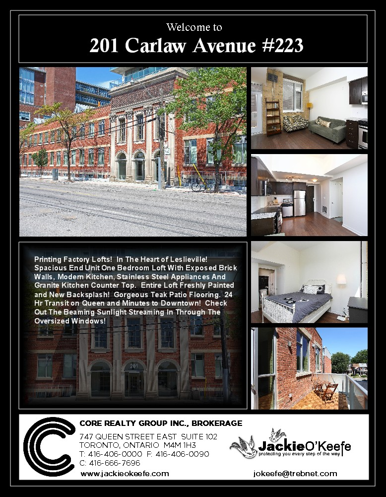201 Carlaw - Toronto property Sold by Jackie O'Keefe