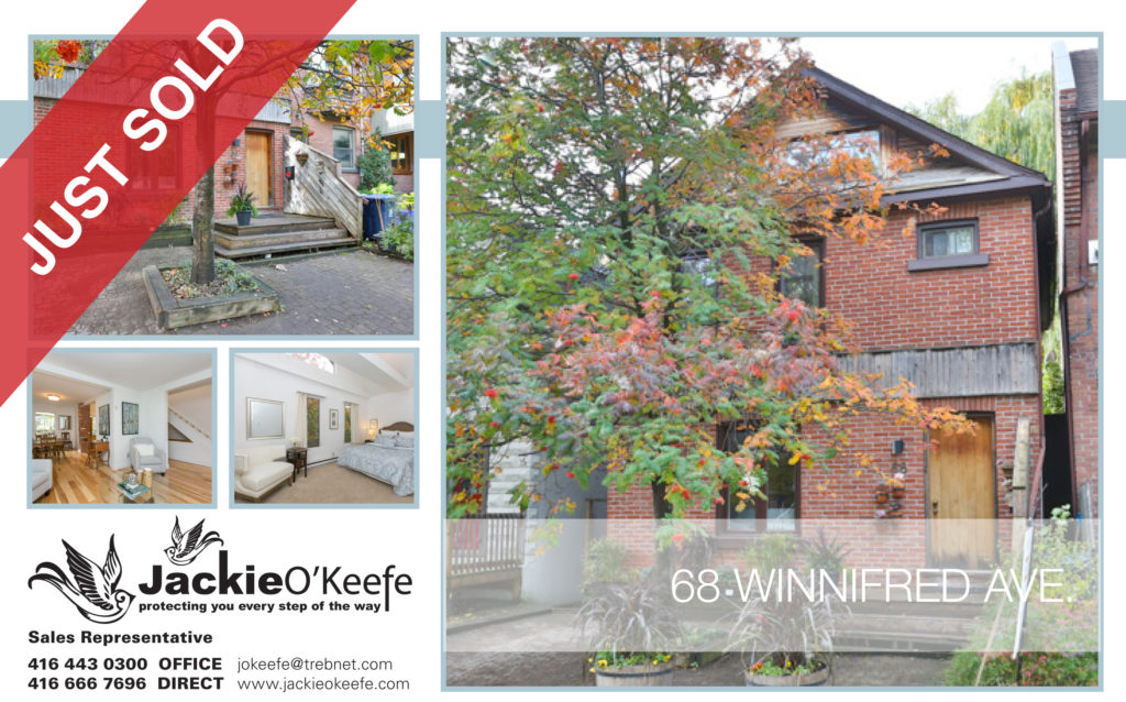 68 Winnifred Ave. Toronto property - Sold by Jackie OKeefe